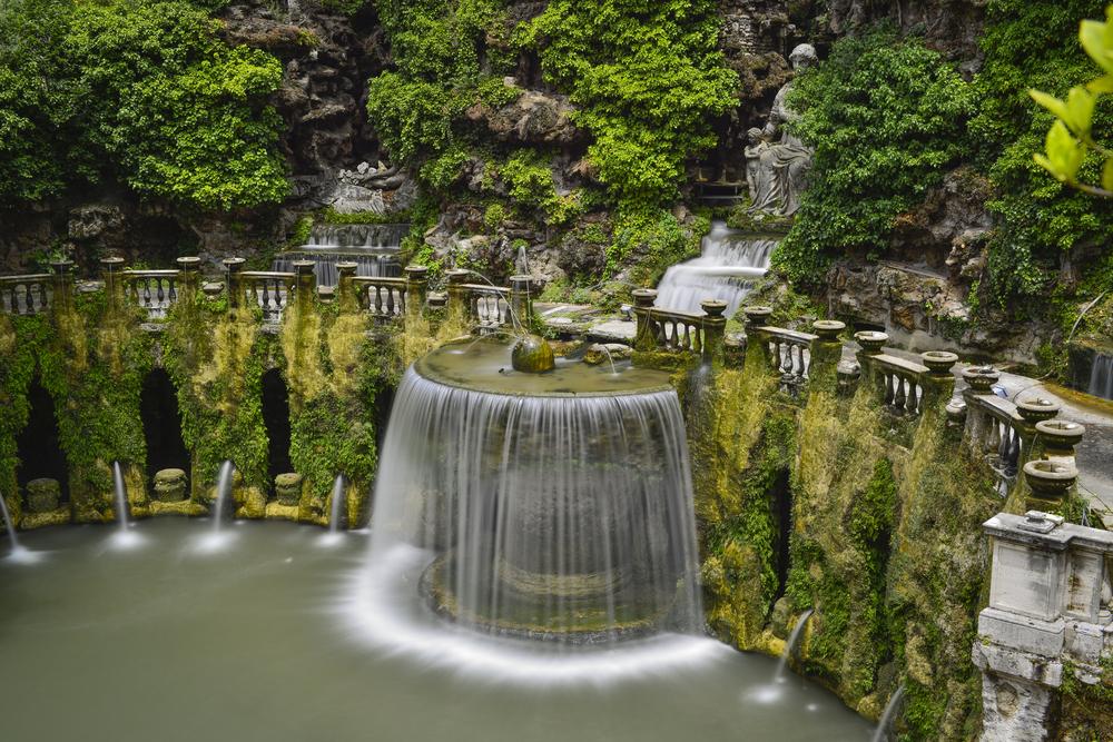 jardin italien et eau